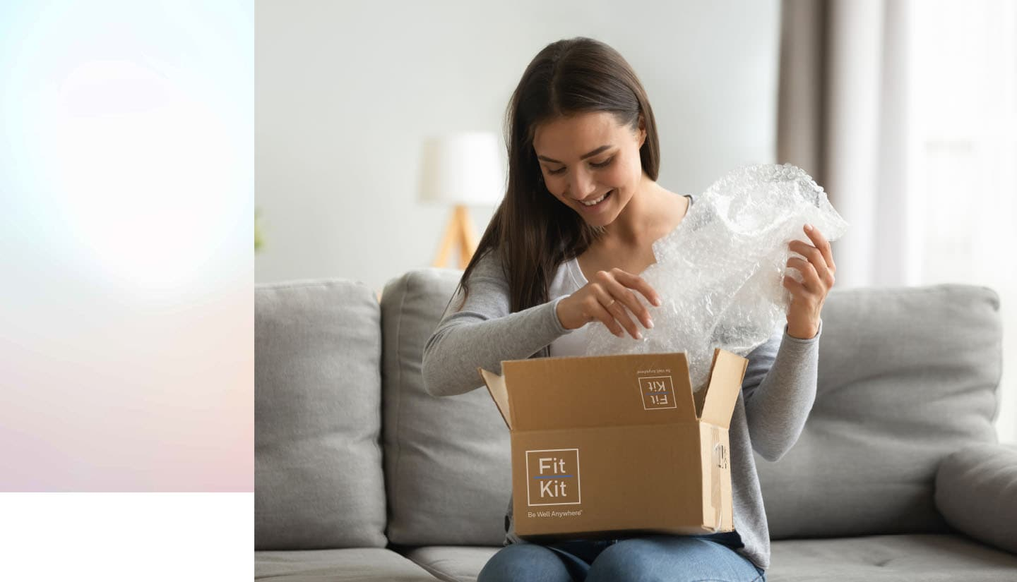 woman opening fitkit